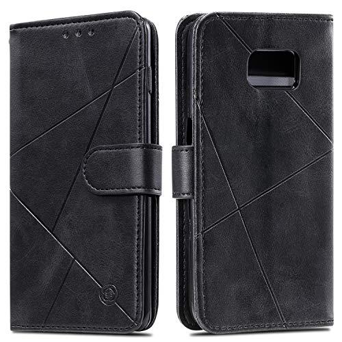 Snow Color Galaxy S7 Hülle, Premium Leder Tasche Flip Wallet Case [Standfunktion] [Kartenfächern] PU-Leder Schutzhülle Brieftasche Handyhülle für Samsung Galaxy S7/G930F - COHH060290 Schwarz
