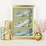 Zapatos De Mujer Vintage ImpresióN En Lienzo Revistas Del Siglo Xix PóSter Bonitos Zapatos Retro Cuadro De Pintura DecoracióN De La Pared De La HabitacióN De Las NiñAs-30x50cm Sin Marco