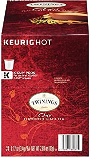 Twinings of London Chai Tea K-Cups for Keurig, 24 Count (Pack of 1)