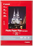 Canon SG-201 - Papel fotográfico A4 (20 hojas, 260 gramos, semi brillante)