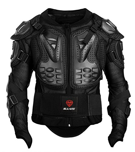 GuTe Motorcycle Protective Jacket,Sport Motocross MTB Racing Full Body Armor Protector for Men (2XL)