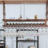 botellero Vino Botellero para Vinos, Soporte para Vino con Exhibición de Barra Creativa, Estante para Almacenamiento de Copas de Vino, Estante para Vasos Al Revés de Lujo Ligero