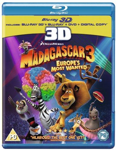Madagascar 3: Flucht durch Europa [3Blu-Ray] (Deutsche Untertitel)