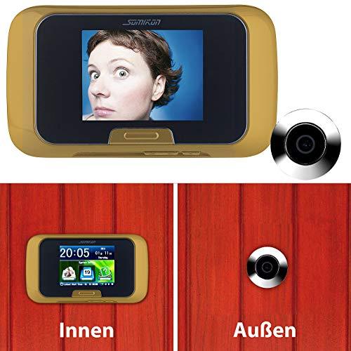 Somikon Türspion ohne Bohren: Digitale Türspion-Kamera mit manueller Foto- und Videoaufnahme (Türspion mit Aufnahmefunktion)