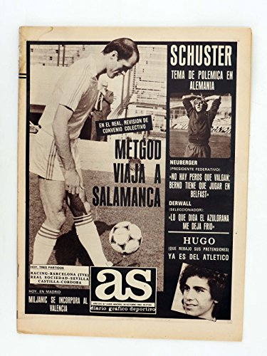 AS DIARIO DEPORTIVO 4659. Metgod Viaja A Salamanca. Schuster. 30 Oct, 1982. As. Metgod Viaja A Salamanca. Schuster. 30 Oct, 1982