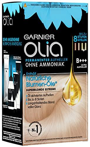 Garnier Olia Haar Aufheller B+++ Ultra Bleach superblonds extreme / Haar Coloration bis zu 8 Stufen Aufhellung (mit natürlichen Blumen-Ölen) Ohne Ammoniak - 3 x 1 Stück