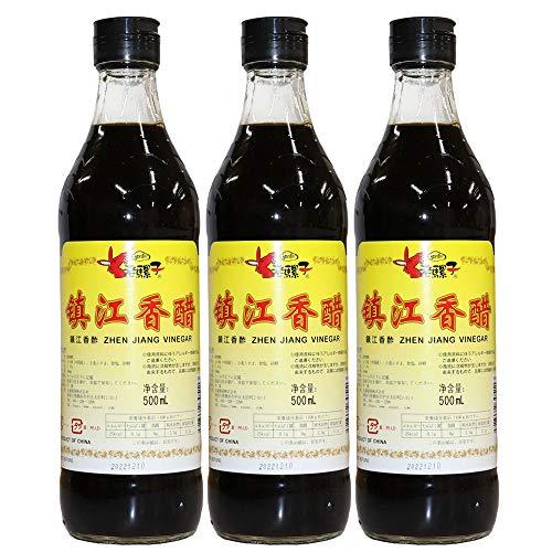 ロウバ 鎮江香酢 (中国黒酢) 500ml×3個 人気中国香酢