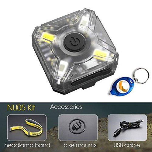 Nitecore NU05 Kit 35 Lumens USB Rechargeable Lightweight Headlamp Mate / Caution Light