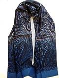 Herrenschal Seidentuch Krawatte Schal zum Binden Herrentuch Paisley Muster 100% reine Seide Alternative zur Krawatte