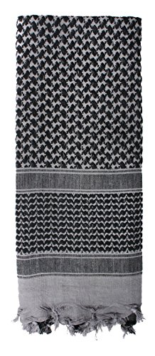 Rothco Shemagh Tactical Desert Scarf, Black/Grey