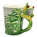 dingtian Taza de café de 300 ml creativa de cerámica tazas de dibujos animados 3D taza de café de animales taza de regalo taza de café taza