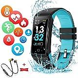 Montre Connectée Intelligente Femmes Homme Enfant Smartwatch Etanche Bracelet Connecté Podometre Cardio fréquencemètre et...