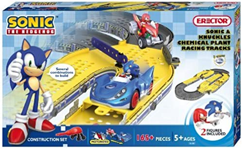 Erector Sonic The Hedgehog Sonic and Knuckles Chemical Plant Construction Playset by Erector