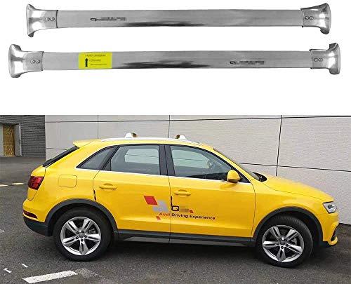 BUSUANZI Car Roof Rack Cross Bars Set Fit for AUDI Q3 2012-2018 Aluminum Lockable Railing Luggage Carrier Travel Accessories