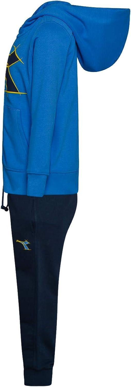 Diadora Tuta Bimbo Full Zip Cappuccio JU.HD FZ Suit Fregio 102174301