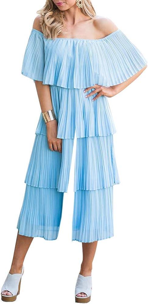 12 L The One Jumpsuit Ruffle Wide Leg Boho Floral Aqua Green New Free People Sz