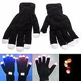 Global Brands Online LED centelleo vistoso que brilla puntal de rendimiento de guantes de la luz del dedo de guantes
