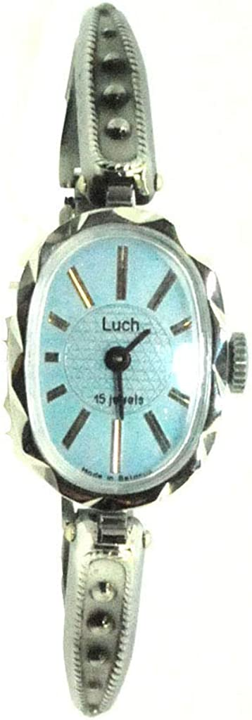 Luch Lady's Max 47% OFF Women Wind up Blue Direct sale of manufacturer Bracelet Wrist Face Watch Bangle