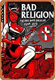 Bad Religion Tin Sign Wall Metal Retro Craft Art Painting Iron Plate Office Garden Living Room Decoration Warning Poster 20x30