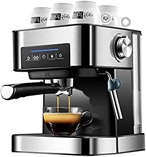 Máquina de café espresso, Smart 1.6L 850W Acero inoxidable Concentración ajustable Automático Pequeños electrodomésticos p...