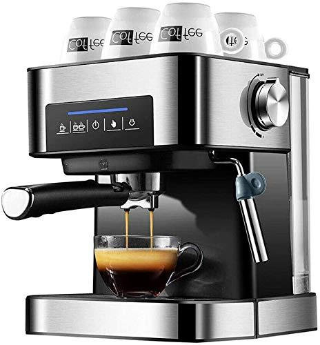 Máquina de café Espresso, cafetera y Capuchino, máquina de café para Uso doméstico Cafetera de Taza Máquina de café Independiente 800W, 1.5L Puede Hacer Espuma de Leche