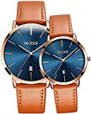 His & Hers Watches Couple Watch for Men Women Matching Wristwatch Pair Analog Quartz Date Waterproof Anniversary Watches Gifts Set (I Do Cherish You)