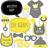 Big Dot of Happiness Baby Neutral - Baby Shower Photo Booth Props Kit - 20 Count