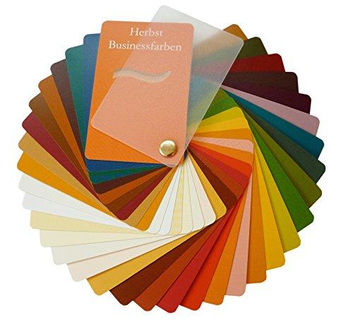 Farbpass Business Herbst (warm Autumn) als Fächer mit 34 typgechten Farben zur Farbanalyse, Farbberatung