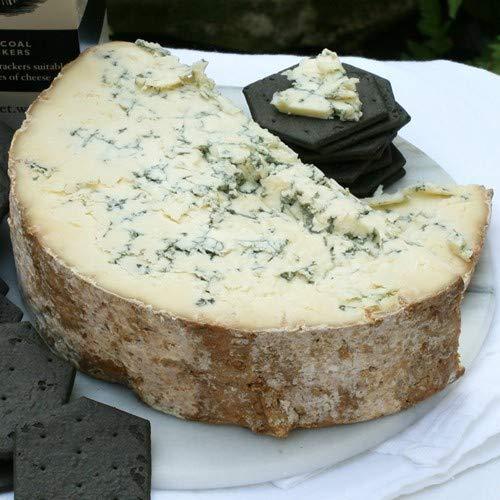 igourmet English Blue Stilton Cheese DOP by Tuxford and Tebbutt  25 Half Moon Cut 25 pound