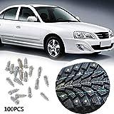 WUYANSE 100PCS Tornillo Antideslizante Neumáticos para automóviles Tornillos Tornillos para Nieve Picos Neumáticos para Ruedas...