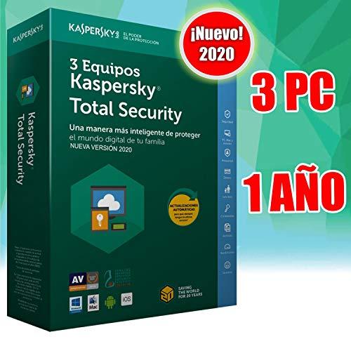KASPERSKY TOTAL SECURITY 2020 3PC licencia por email NO CD