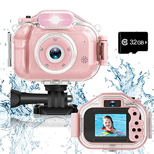 Agoigo Upgrade Kids Selfie Waterproof Camera Toys for 3-12 Year Old...
