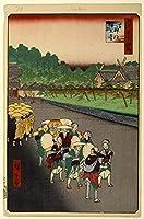 歌川広重日本美術浮世絵江戸の有名スポット100秋のパート大本山増上寺ジグソーパズル大人の木のおもちゃ500ピース