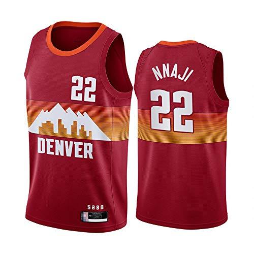 XXMM Camiseta De Baloncesto para Hombre, NBA Denver Nuggets # 22 Zeke Nnaji Camiseta De Baloncesto para Jóvenes Deportes De Ocio Al Aire Libre Camiseta Corta Sin Mangas,S(165~170CM)