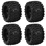 VGEBY Neumáticos de 4 Piezas RC para Ruedas Coche, neumáticos Goma RC 1/8 RC, neumático Oruga Repuesto Apto para ZD Racing Large Foot 1/8 Modelo de Coche 170x103mm