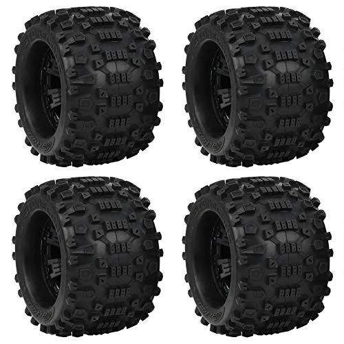 VGEBY Neumáticos de 4 Piezas RC para Ruedas de Coche, neumáticos de Goma RC 1/8 RC, neumático de Oruga de Repuesto, Apto para ZD Racing Large Foot 1/8 Modelo de Coche 170x103mm