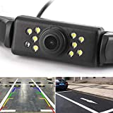 Vehicle License Plate Backup Camera - Car Rear View Camera,GOODBONG Automotive Backing Camera 120° View Angle Waterproof 9 LED Night Vision Reversing Camera for Trucks/SUV/RV/Pickup/Vans