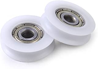 Winwill® 4Pcs 5 * 21 * 7mm 625zz U ranura guía polea sellado rodamiento de bolas de nylon Nylon incrustado