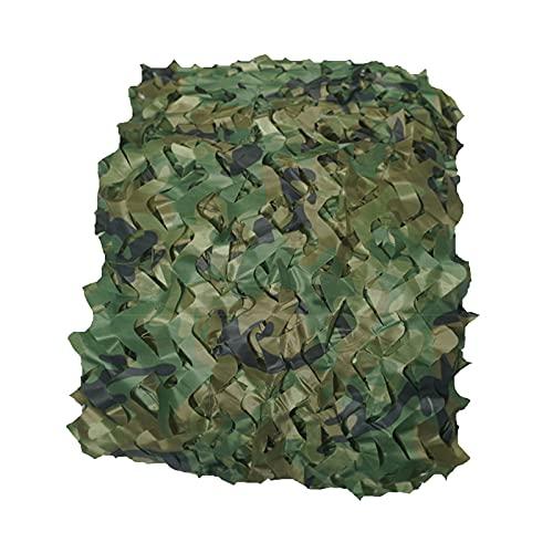KangJZ - Red de camuflaje verde, cubierta de bosque de montaña, tela Oxford, resistente al desgarro, protección solar, refugio para acampar (tamaño: 8 x 8 m)
