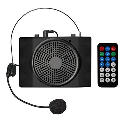 ELEGIANT Verstärker Vocal, Verstärker Stimme Tragbar Verstärker Kopfhörer Lautsprecher USB2.0mit Mikrofon Kopfhörer für die Ratgeber, die Lehrer, Referenten, Animateure, Stifter etc