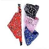 Perro Pañuelos Triángulo Baberos Collar Ajustable Bufanda Pañuelo para Random Gato 4pcs Color (Tamaño S)