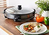 TRENDI Large 40CM Multi Function Electric Cooker 1500W Large Non Stick Pizza PAELLAS STEWS