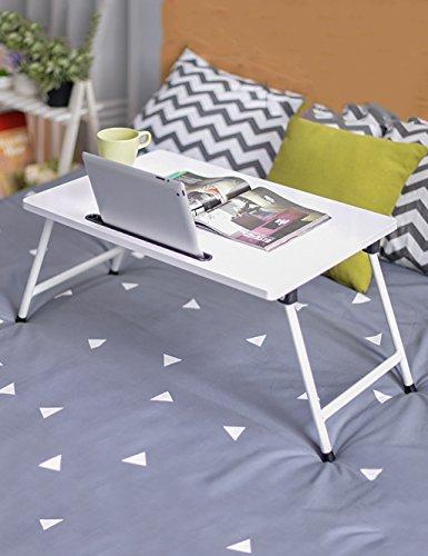 Table d'ordinateur Portable Bureau de dortoir Tableau d'étude Paresseux Table Pliante (4 Couleurs, 2 Styles en Option) (Couleur : 4#, Style : B)