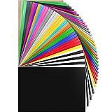 HTV Heat Transfer Vinyl Bundle 37Pack 12' x 10' HTV Vinyl Sheets,Iron On Vinyl...