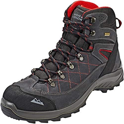 High Colorado ,  Scarponcini da Camminata ed Escursionismo Uomo Schwarz-Grau-Rot, Nero (Schwarz-Grau-Rot), 43 EU