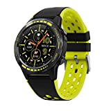 Smart Watch Men IP68 Sport SmartWatch Man Compass Barómetro Altitude Outdoor Waterroof Smart Relojes Inteligentes (Color : M7C Yellow)