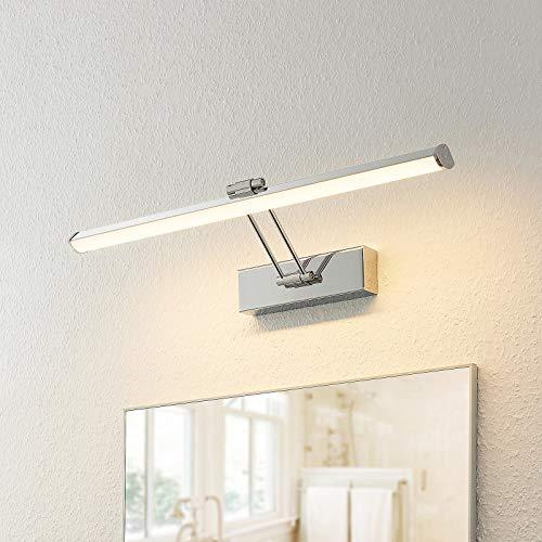 LED Lámpara de pared 'Sanya' (Moderno) en Plateado hecho de Metal e.o. para Cuarto de baño (1 llama, A+) de Lindby | lámparas de pared para baño, aplique