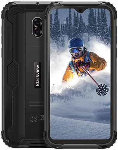 Blackview BV5900 Outdoor Smartphone Ohne Vertrag (2020), Raumkapsel Aussehen, 5,7-Zoll-HD + Android 9.0-, IP68-Wasserdicht Robustes, Unterwasserkameramodus, 3 GB + 32 GB, NFC, 5580mAh, Schwarz