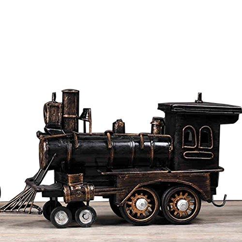 Meng wei shop Retro Hauptdekorationsverzierungen Eisenlokomotive Modell Wohnzimmer TV-Möbel Bastelspielzeug