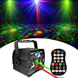 Party Lights DJ, Disco Light with Remote Control Laser Stage Lighting, Portable Sound Activated Disco Ball Led Projector Strobe Lamp for Indoor/ Outdoor Parties Kids Christmas Birthday Show Home Bar